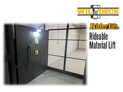 Riderlift™ RML Rideable Material Lift, Interior View of Lift Cage