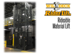 Riderlift™ RML Rideable Material Lift, Installed for Mezzanine Access