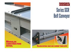 The Series SCR conveyor is designed without internal flanges, therefor eliminating contamination due to product build-up.