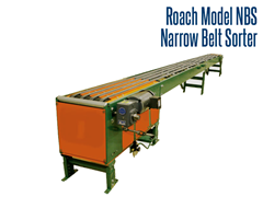 The Model NBS is a narrow belt sorter which uses multiple belts to transport product to diverters strategically placed along the sorter.