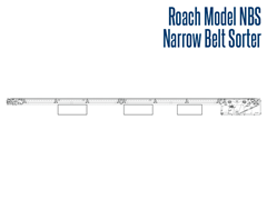 The Model NBS Narrow Belt Sorter Side View Schematic