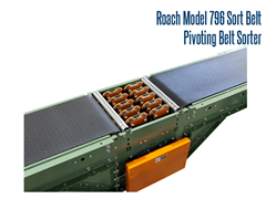 The Model 796 Sort Belt is a pivoting belt diverter that allows for a high level of package sortation.