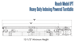 Roach Heavy Duty Indexing Turntable Side View Schematic
