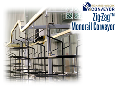 The Zig-Zag™ enclosed track design shields products from contamination that typically falls from open-chain conveyors. This also protects the chain itself from airborne dirt, abrasives and solvents, prolonging the chain life.