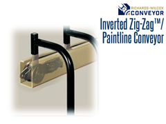 The Richards-Wilcox Inverted Zig-Zag® Conveyor is ideal for product environments where a clean operation is essential.