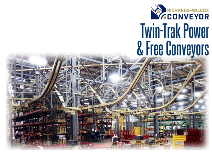Twin-Trak™ offers the ideal medium-to-high capacity solution where limited overhead space is available for product storage and transportation.