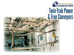 "Twin-Trak™ combines a 3/16"" plate steel load track with carrier handling up to 1,000 lbs. for maximum flexibility."