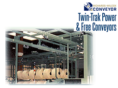 Twin-Trak™ uses the same standard components as Richards Wilcox standard monorails