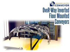 OveR-Way™ inverted conveyors offer an ideal medium capacity solution where cleanliness and/or robotic interfaces are a major requirement.