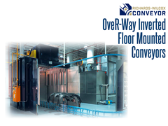 OveR-Way™ Inverted conveyors are entirely self-supporting and do not require the use of hanging or header steel.