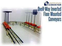 These energy-efficient conveyors are perfect for settings where avoiding contamination is a paramount concern, as the system components remain below the transported parts at all times.