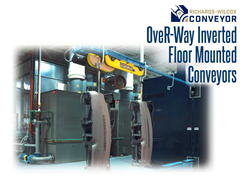 OveR-Way™ inverted optimizes production by integrating processes typically serviced by multiple types of conveying equipment.