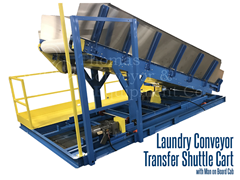 Picture for Laundry Conveyor Transfer Shuttle Cart with Man on Board Cab