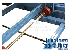 Close up view of laundry shuttle cart used to transfer laundry from washer to dryer or from folding to ironing