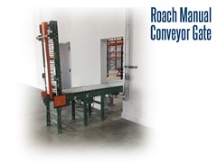 Manual conveyor pass through gates allows crossing the conveyor line at critical points