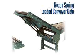 Roach Conveyor's Spring Loaded Conveyor Gates provide openings and walkways for fork truck traffic, personnel, carts, or operators.