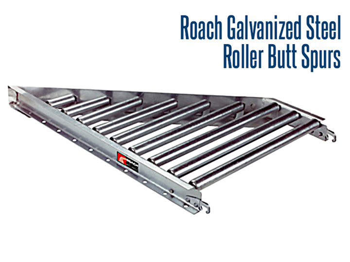 Gravity Butt Spurs are used to divert product off, or merge on, main trunk line conveyors at various angles.