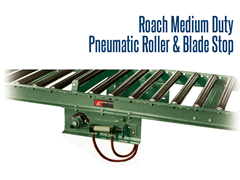 Pneumatic Roller and Blade Stops are designed to stop or reroute your conveying equipment's path and are used to improve usability and customize your conveying setup.