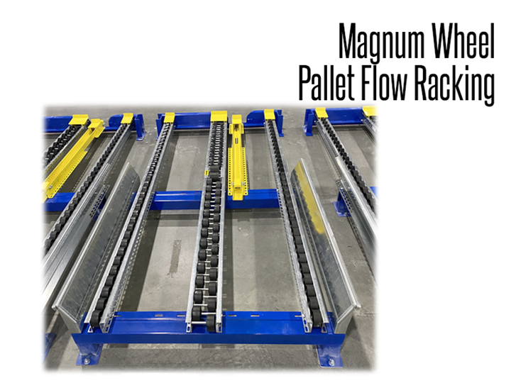 Magnum wheel rollers are ideal for pallet loads reaching over 3,000 pounds and are perfect for freezer storage applications.
