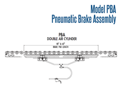 Roach Model PBA, Pneumatic Brake Assembly Schematic Double Air Cylinder