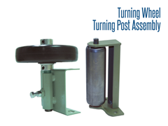 Turning Wheel/Turning Post Assembly assist products with smooth transition to or from spur line