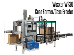 The Wexxar WF30 Fully Automatic Case Former/Case Erector utilizes advanced technologies to reliably form and erect a square case each and every time.