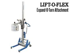 The Expand-O-Turn™ is operated via push buttons and is simple and easy to use and will not damage the core or the roll surface.  The Expand-O-Turn™ tooling attachment is designed to lift and rotate any size roll.