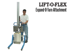 The LIFT-O-FLEX™ has a wide variety of standard end effectors, attachments, tooling and manipulators available.