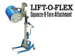 The LIFT-O-FLEX™ is ideal for moving, lifting, inverting and rotating, the unit can lift and rotate rolls, spools, reels, as well as other products of similar size and shape