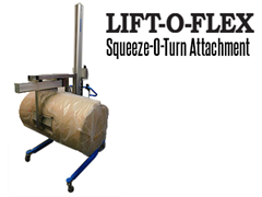 Squeeze-O-Turn™'s unique modular drum handling has a maximum lifting capacity of 300 lbs.