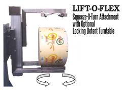 LIFT-O-FLEX™ end effectors, or attachments, are completely interchangeable, which means that one unit can perform multiple tasks quickly and easily.