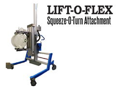 The LIFT-O-FLEX™ Series 12120, manufactured by RonI, combines the LIFT-O-FLEX™ and Squeeze-O-Turn™ components into one unit