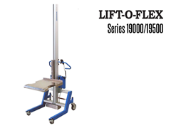 The LIFT-O-FLEX™ Series 19000/19500 is an adjustable ergonomic lifter with a 350-lbs. (Series 19000) or 500-lbs. (Series 19500) lift capacity