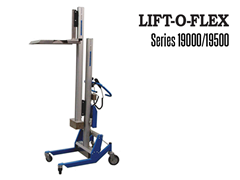 The LIFT-O-FLEX™ Series 19000/19500  can lift and turn, move, pour, position and load your coil, spool, drum, bags, box or tote.