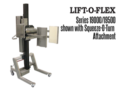 The LIFT-O-FLEX™ has a wide variety of standard end effectors, attachments, tooling and manipulators available