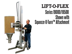 The LIFT-O-FLEX™ Series 19000/19500, Shown with the Squeeze-O-Turn™ Attachment