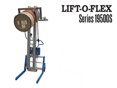 The LIFT-O-FLEX™ Series 19500S can lift and turn, move, pour, position and load your coil, spool, drum, bags, buckets, barrels, box or tote.