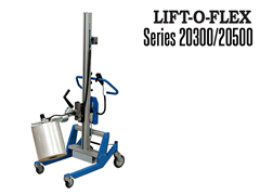 The LIFT-O-FLEX™ is an ergonomic material handling solution that is designed to lift, move, invert and rotate rolls, spools, reels, as well as other products of similar size and shape.