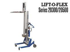 LIFT-O-FLEX™ 20300/20500 features an enclosed lift mast with ball screw