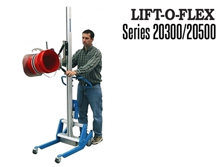 The LIFT-O-FLEX™ Series 20300/20500 is an ergonomic lift designed to lift, rotate, position glass panels, coils, drums and bags.