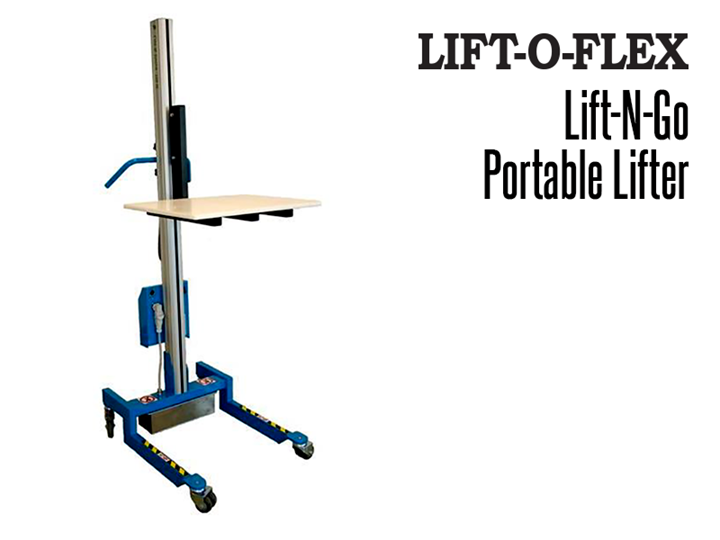 RonI's Lift-N-Go™ is a compact version of the larger LIFT-O-FLEX™ series models. The lifter is lightweight and very easy to maneuver.