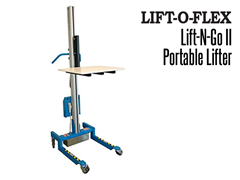 The Lift-N-Go™ is light-weight, highly maneuverable, and easy to operate.