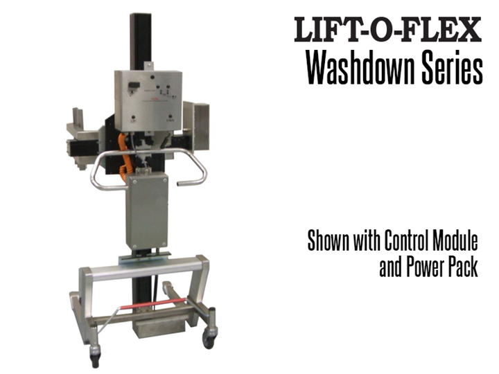 RonI's LIFT-O-FLEX™ Wash Down Series ergonomic lifter offers dynamic load handling characteristics for heavy load capacities.