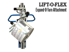 Electric Expand-O-Turn™ is an electronically operated ergonomic lifter and core expander for paper and film rolls.