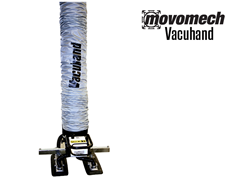 The Vacuhand / Easyhand vacuum tube lifter is capable of lifting products of various shapes, sizes, and weights safely and efficiently. This end effector can be paired with the Movomech Crane System or Movomech Rail System.