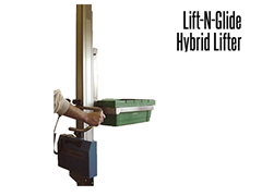 The Lift-N-Glide™  uses existing Mechrail™ technology and complementary and interchangeable lifter components, making the Lift-N-Glide™ a cost effective and versatile option.