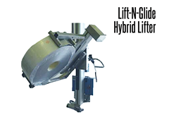 The Lift-N-Glide™  Shown with Double Mast Squeeze-O-Turn Tooling Attachment
