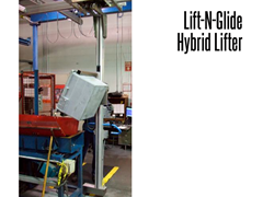The Lift-N-Glide™ is shown gripping and turning a tote