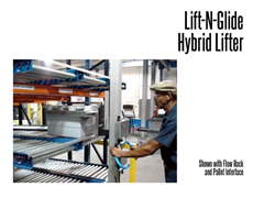 Lift-O-Flex Lift-N-Glide Shown with Flow Rack and Pallet Interface