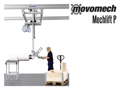The pillar-mounted Mechlift Pro P™ is well suited to demanding environments requiring high reliability and performance, such as in assembly processes in the automotive industry.